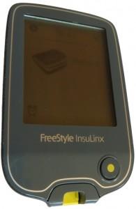 Das Messgerät InsuLinx eingeschaltet