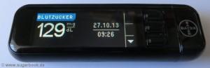 Diabetes Blutzuckermessgerät Bayer Contour next USB mit Messergebnis
