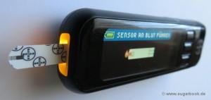 Diabetes Blutzuckermessgerät Bayer Contour next USB Streifenbeleuchtung