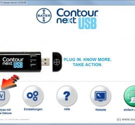 SugarBook Datenimport aus dem Bayer Contour next USB