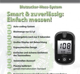 Diabetes Software SugarBook Messgerät Metrado-Gluceofine